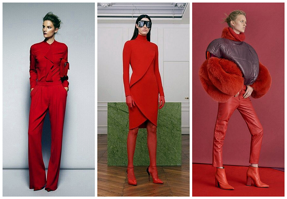 red total look trend